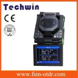 Techwin FTTX с одним ядром оптического волокна Fusion Splicer выравнивания