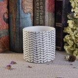 編まれたパターン陶磁器の蝋燭の瓶