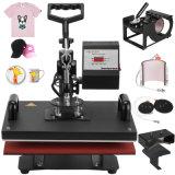 6 1 Pulse la transferencia de calor T-Shirt Mug Hat Impresora de sublimación de la máquina de impresión