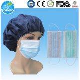 Masque protecteur remplaçable d'hôpital ou masque facial de papier non-tissé