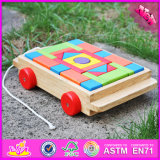 2016 Top Fashion Kids bloco de construção de madeira brinquedo carro W13C016