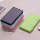 Nouveau venant USB Super Thin PU Leather Feeling Power Bank / Supply