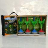 Зарево в игре дротиков лужайки сада темноты установленной с дротиками 4PCS и целью 2PCS