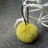 Сотовый телефон Keychain Pompom шарика шерсти кролика ключевого кольца шарма