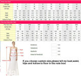 Longues robes de mariage de sirène de robes nuptiales de ceinture sexy de lacet Z2063