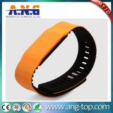 Bracelete NFC impermeável 13.56Silicone MHz 1K Banda de RFID