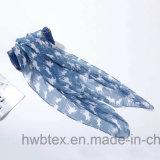 L'écharpe de polyester des femmes estampés par voile bon marché avec les cerfs communs (HP19)