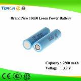 Батареи Li-иона 18650 высокого качества производственная мощность первоначально 3.7V 2500mAh нового продукта полная