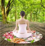 Диаметр циновки 140cm раздумья Mandala печати круглой циновки йоги изготовленный на заказ