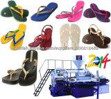 Zapatillas de soplado de aire de PVC automática máquina de moldeo por inyección