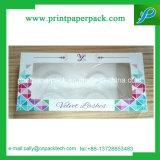 La impresión de logotipo de Pestañas postizas pequeños envases de papel caja plegada Caja rígida
