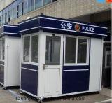 Quiosque da cabine da segurança da polícia, cabine do quiosque, edifício pré-fabricado