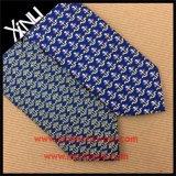 100% a mano impresa seda corbata para los hombres