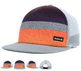 Tampão de confeção de malhas do chapéu do camionista do Snapback dos painéis da parte dianteira 5 com logotipo personalizado OEM