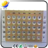Calendário de mesa de alumínio de alta qualidade Calendário perpétuo Decoração de mesa Publicidade Itens promocionais Logotipo personalizado