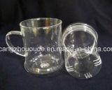 Crear las tazas promocionales del agua para requisitos particulares de té del fabricante de cristal de las tazas