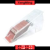 Transparencia llena/1 - 8 zapatos de acrílico del distribuidor autorizado de las tarjetas que juegan del póker de la cubierta con el espejo para los juegos de juego Ym - Ds04
