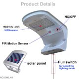 Nueva lámpara ligera solar montada en la pared accionada de la llegada energía solar IP65 LED