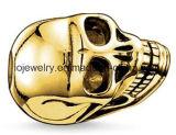 Branello d'argento di fascino del cranio del commercio all'ingrosso 925 con lo Zircon