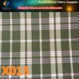 Оптовая пряжа покрасила ткань одежды проверки полиэфира (X015-17)