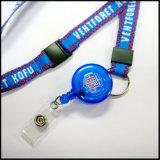Promotional 학교를 위한 선물 길쌈되었거나 자카드 직물 땋아진 로고 주문 방아끈