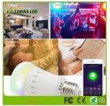 E26 9W Kleur die Slimme LEIDENE Bol WiFi veranderen die met Verre Controlor wordt gecontroleerd