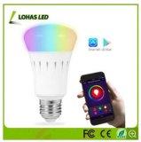 먼 Controlor로 통제되는 지능적인 LED 전구 WiFi를 바꾸는 E26 9W 색깔
