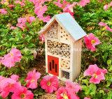 Casa de madera del insecto del jardín de encargo de la insignia para la mariposa de la abeja
