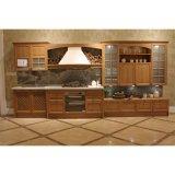 Eenheden van de Keuken van de Villa van de luxe de Klassieke Stevige Houten met de Kabinetten van de Muur