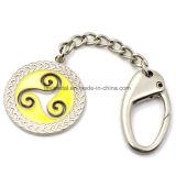 아연 합금 연약한 Enemal 주문 다채로운 로고 열쇠 고리