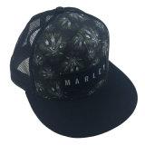 Polyester noir promotionnels personnalisés Hat maille filet d'impression camionneur Cap