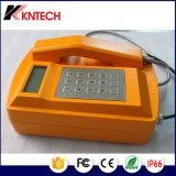 alta resistencia Teléfono Teléfono Rubost Impermeable IP66 Knsp-18Kntech LCD