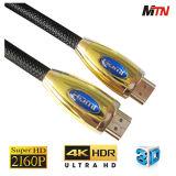 2160p cavo pieno di alta velocità 2.0 3D HDMI per HDTV, PS3/PS4, giocatore del Blu-Raggio 4k
