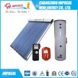 Chauffage d'eau concentré actif fendu d'énergie solaire de caloduc