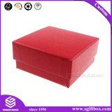 Rectángulo de empaquetado de papel del color rojo de la cartulina de encargo del cuadrado con el sombrero