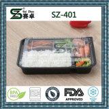 Bandeja de comida de plástico descartável de 4 compartimentos