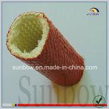 Gainer enduit ignifuge autoextinguible de fibre de verre en caoutchouc de silicones
