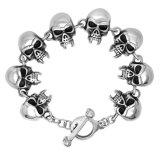 Bijou gothique d'acier inoxydable d'hommes de bracelets de crâne