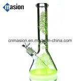 Tubo de agua de cristal del tubo de los cortacircuítos del árbol que fuma (ZY004)