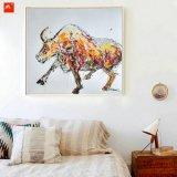 ハンドメイドの壁の芸術の漫画の水牛の油絵