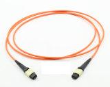 8 cavo di zona ottico della fibra MPO/MTP di memorie Om3 Om4