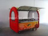 Ys-Bho230 &#160 ; Kiosque mobile multifonctionnel de nourriture de rue de chariot de hot-dog