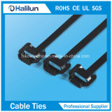 fascetta ferma-cavo rivestita 201/304 della serratura del PVC O dell'acciaio inossidabile