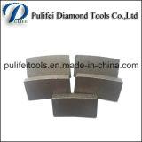 Marmeren Knipsel van het Segment van het Blad van de Zaag van het Graniet van de Hulpmiddelen van de Steen van de diamant het Cirkel