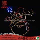Nouveau LED 2D Snowman Decoration Motif Light pour Noël IP65