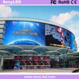 Panneau fixe polychrome extérieur d'Afficheur LED d'écran d'intense luminosité pour la publicité visuelle de mur