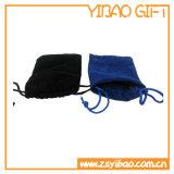 Alto bolso de moda del terciopelo de Quilty con la insignia de Customied del rectángulo (YB-HD-10)