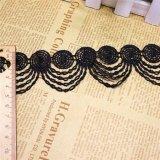 Merletto di nylon di immaginazione della guarnizione del ricamo del poliestere del merletto del ricamo di larghezza del commercio all'ingrosso 4.5cm per l'accessorio degli indumenti & tessile & tende domestiche