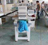 Máquina automatizada de alta velocidad del bordado del solo color de la pista 15 para el bordado plano de la camiseta del casquillo 3D
