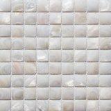Mosaico blanco del shell de la naturaleza para la decoración casera